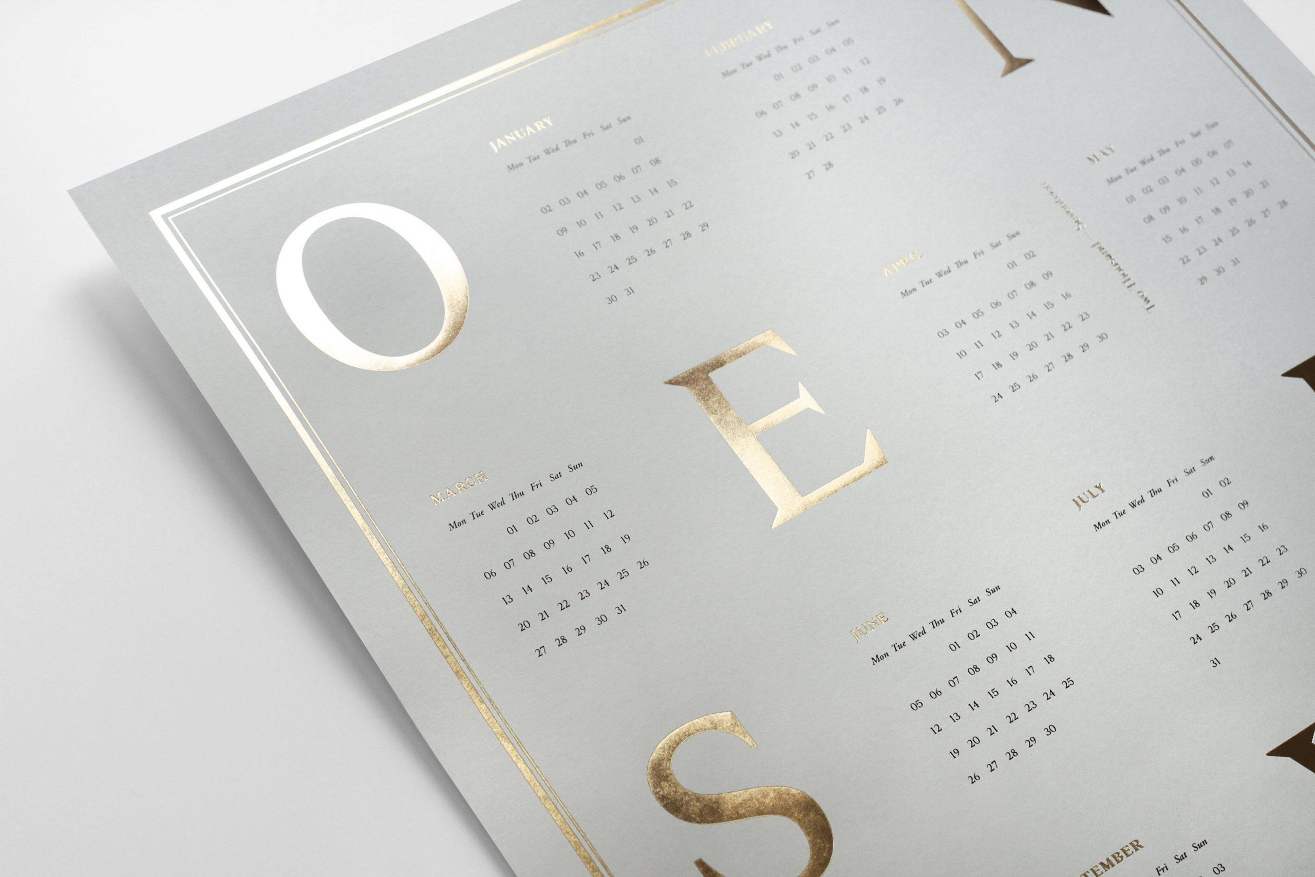 calendario-creativo-dorado-oro