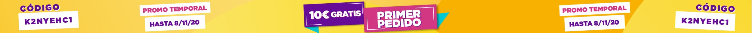 Promo temporal 10€ gratis imprenta online