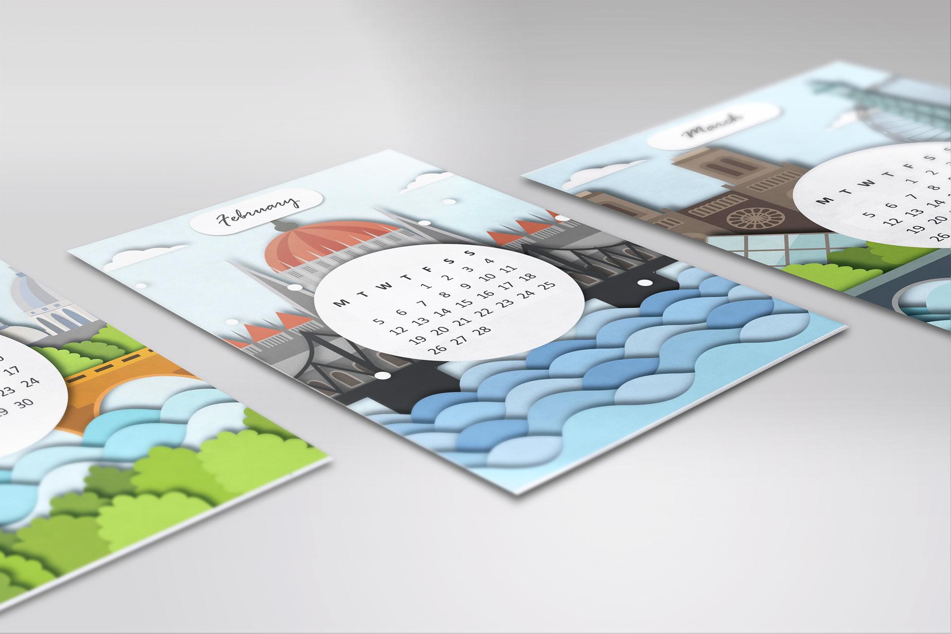 ideas para diseñar calendarios creativos