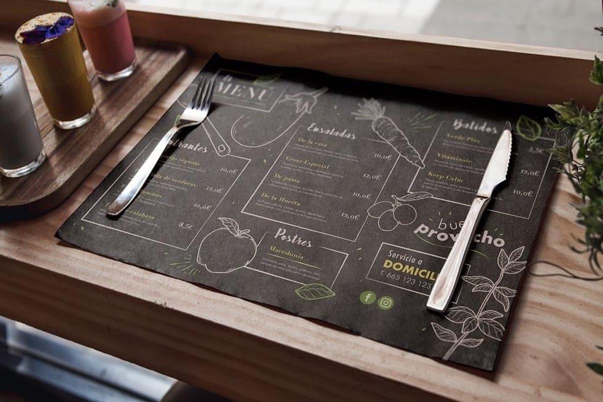 Manteles de papel menú cartas